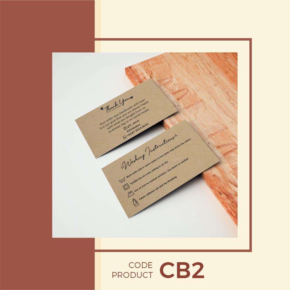 Kartu Ucapan Online Shop (Coklat) Rustic